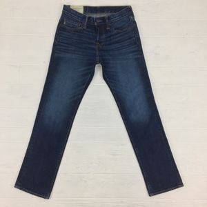 Abercrombie & Fitch Slim Straight Button Fly Blue